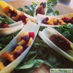 Barquitas de remolacha y mango