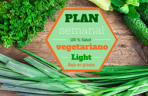 Cartel Plan Vegetariano Light