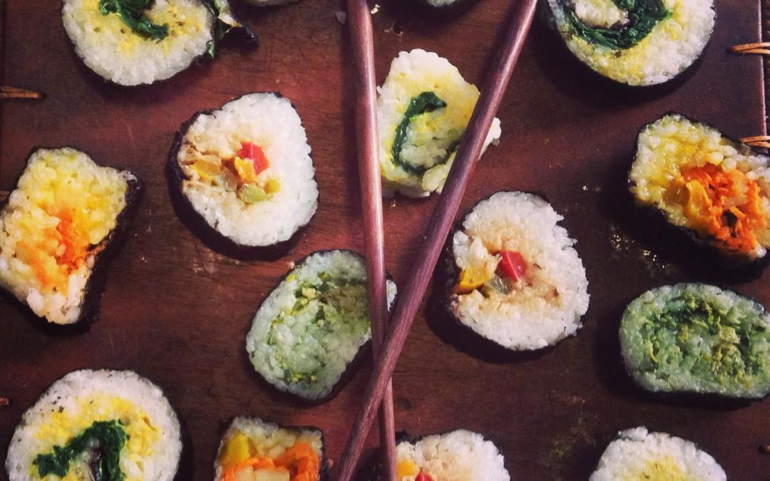 Ideas para rellenar tu sushi vegetal