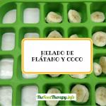 Helado exprés de plátano y coco