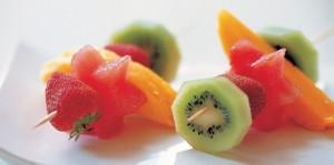 Pincho de frutas