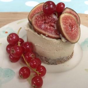 Cheesecake cruda de higos