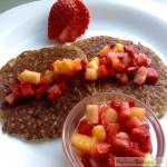 Tortitas de quinoa y sarraceno con mermelada express crudi