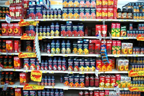 Cuidado con los zumos industriales